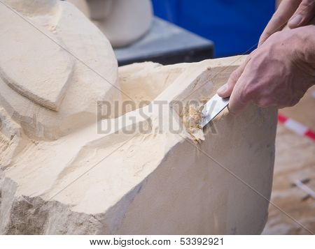 Marl Stone Carving At Sculpture Festival