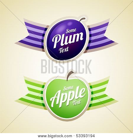 Apple And Plum Labels