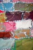colorful handmade traditional turkish patchwork as background poster