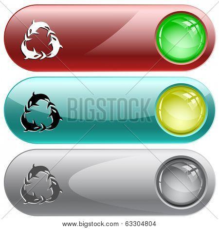 Killer whale. Internet buttons. Raster illustration.  poster