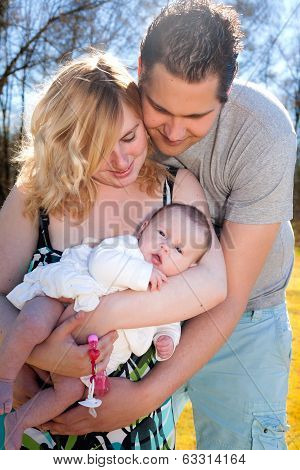 Young Family And The Baby Girl
