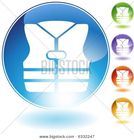 Life Jacket Crystal Icon