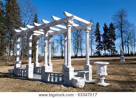 White Gazebo In A Park