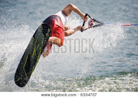 Waterski In Action - Man Shortboard