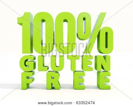 Gluten Free icon on a white background. 3D illustration