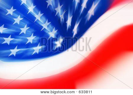 Zooming USA Flag Close Up