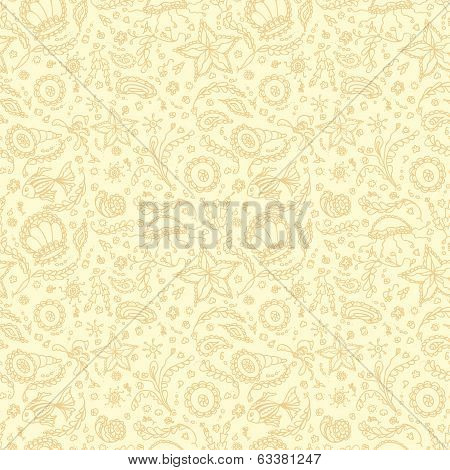 Seamless pattern or background with abstract marine word