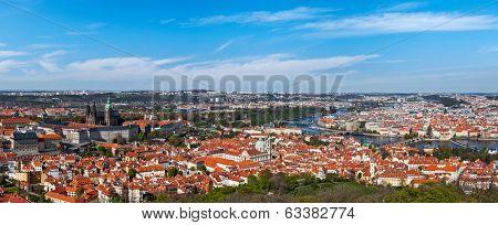 Panorama view of Prague from Prague Castle. Prague, Czech Republic
