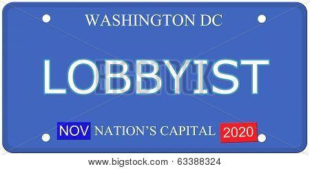 Washington Dc Lobbyist License Plate