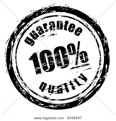 "Abstract black grunge stamp named ""guarantee quality"". poster"