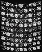 Vector Set of Chalkboard Style Button Bunting poster