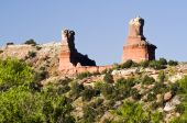Lighthouse Peak in Palo Duro Canyon State Park in Texas. poster
