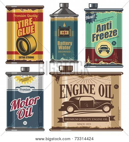Motor Oil Cans