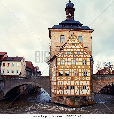 The Old Town Hall In Bamberg(germany) In Winter