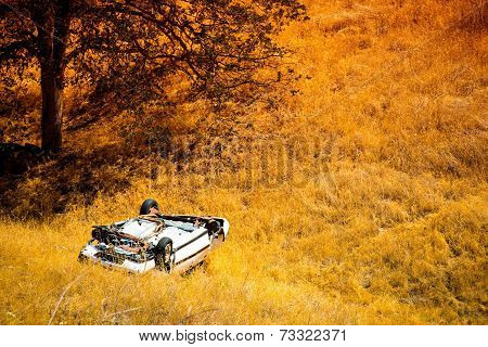 Rollover Crashed Car