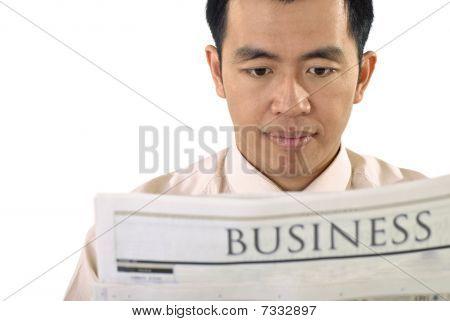 Businessman Read Newspaper