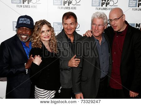NEW YORK-OCT 5: (L-R) Ben Vereen, Kyra Sedgwick, Edward Walson, Richard Gere & Oren Moverman attend