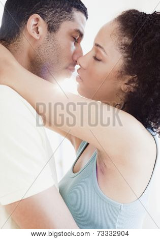 Couple kissing passionately