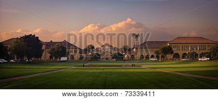 Stanford university at sunrise