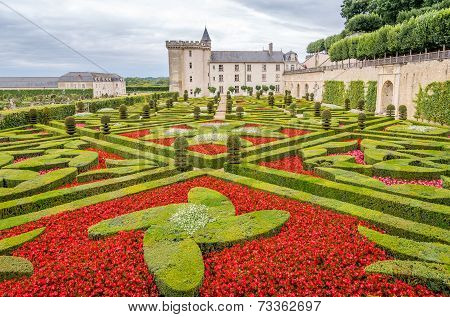 Garden With Chateau Villandry