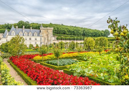 Castle Villandry With Garden.