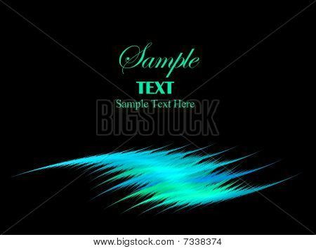 Blue Green Swoosh With Copy Space For Text