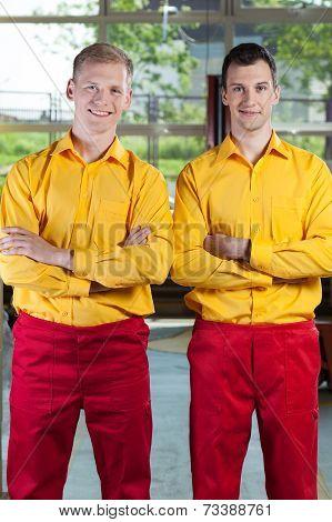Handsome Factory Workers