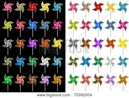 Colored Pinwheel
