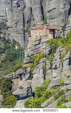 Old Greek church. monastery at Meteora in Trikala region