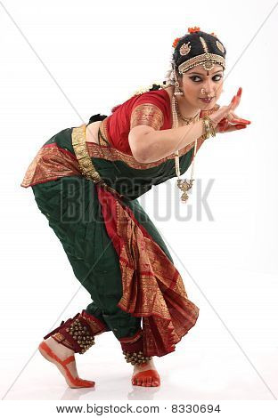 Woman in dancing pose