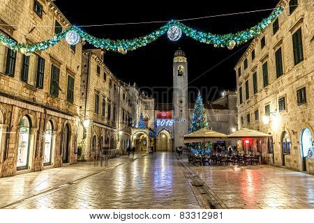 Dubrovnik Stradun New Year decoration