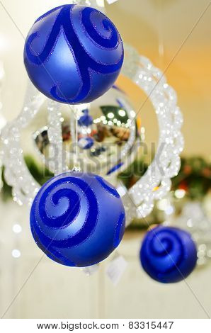 New Years's blue ball, decoration