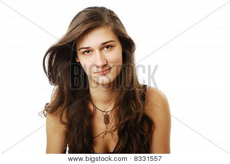 Youth Woman With Derisive Look