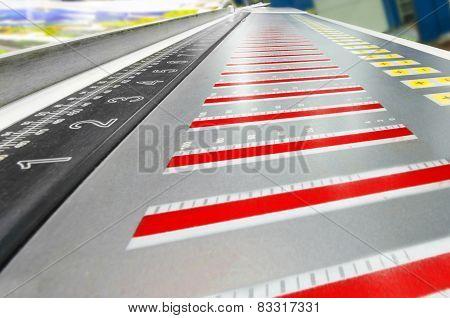 offset machine press print run at table fountain key control unit