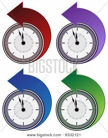 Backwards Clock Arrow Set