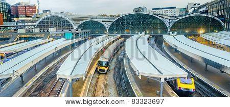 Paddington railway station in London UK