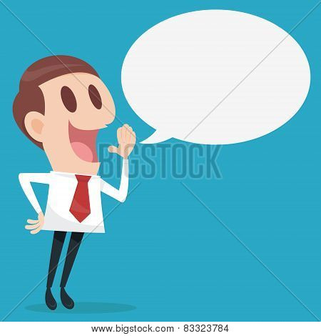 Businessman Talking