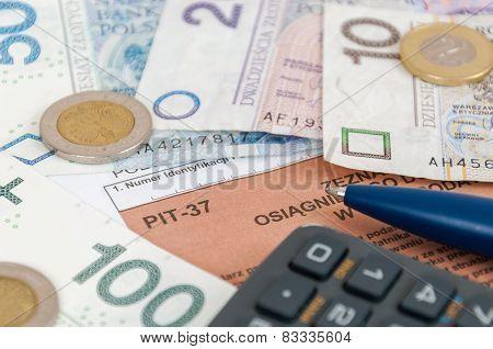 Polish Individual Tax Form Pit-37