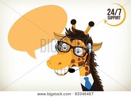 Phone Operator Giraffe