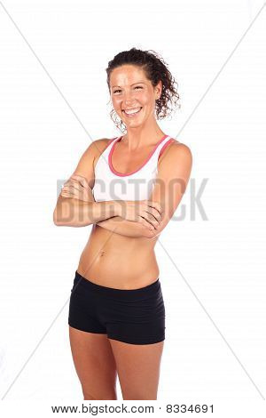 Happy fitness woman