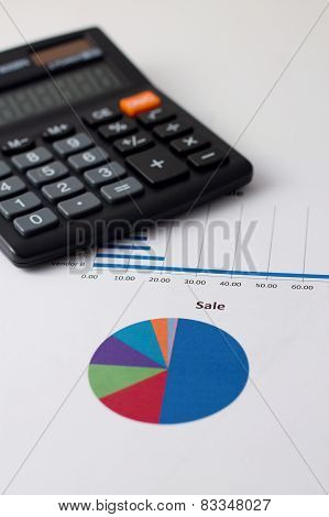 Pie Chart With Sale Headline And Calculator