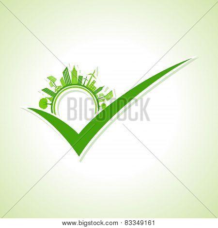 Eco cityscape -go green concept stock vector