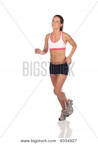 Attractive female jogger