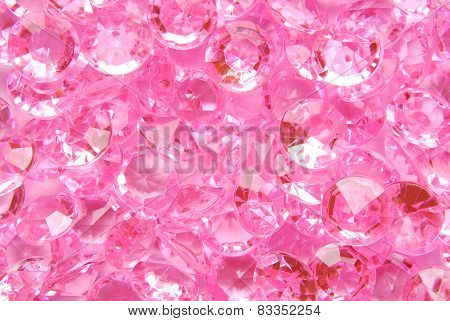 close up of the pink diamond