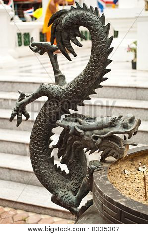 Image Of Dragon On Joss Stick Pot
