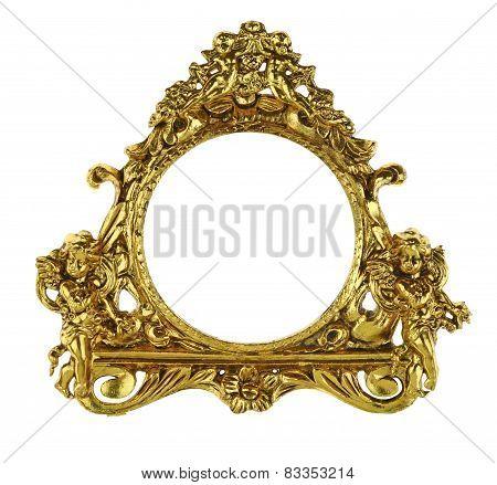Gold Cherub Picture Frame