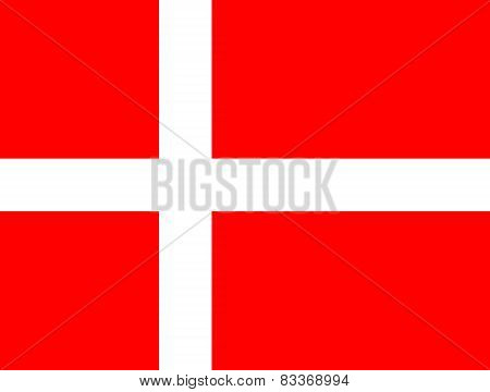 The Kingdom Of Denmark Official Flag