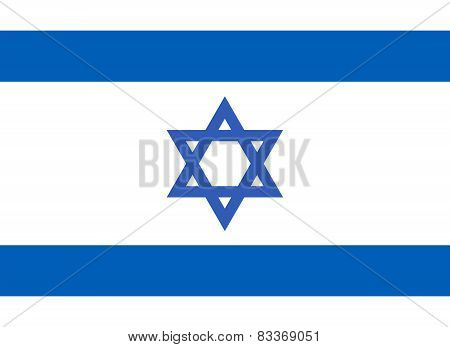 The State Of Israel Official Flag