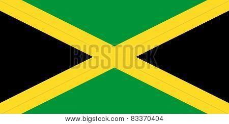 The Jamaica Official Flag