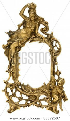 Goddess and Cherub Picture Frame